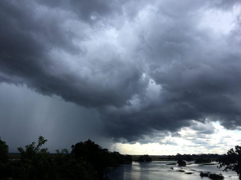 ne tempête sur la réserve communautaire Lac-Tele. Photo/WCS